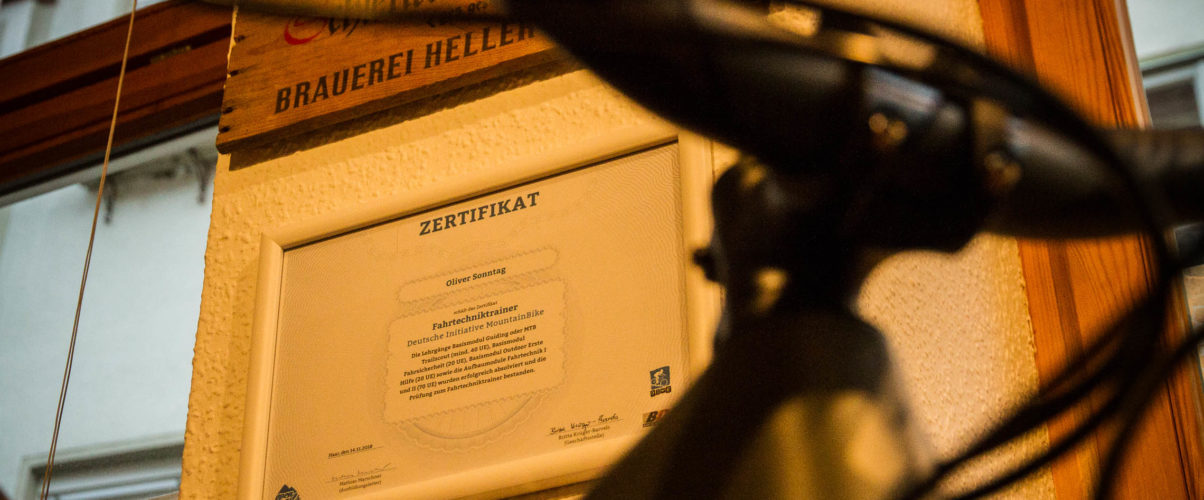 Wir sind DIMB zertifizierte Mountainbike Trainer